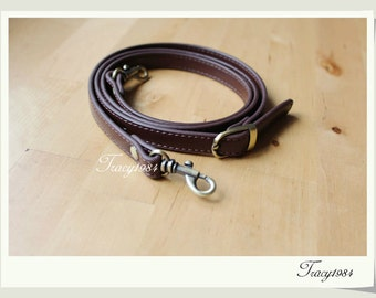 46 inch Synthetic Leather Purse Bag Replacement Strap in Deep Brown