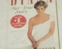 vintage Princess Diana paperbook book, British royal family book, Princess Diana biography, English biography,