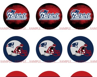 INSTANT Download!!! New England Patriots  Bottle Cap Images- DIGITAL or PRINT-Tags-Cupcake Toppers-Scrapbooking and More.