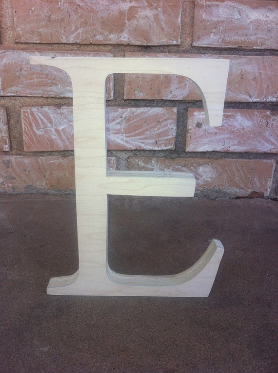 Items similar to 11 to 16 inch unfinished wooden letter e for 16 wooden letters