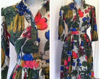 Saks Fifth Avenue Timeless Vibrant Dress - 60s 70s Fab - Modern Day Size Small 4 6