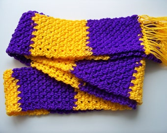 The Skinny Scarf - Purple & Yellow Stripe