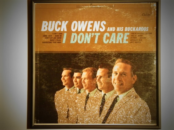 Glittered Record Album - Buck Owens and his Buckaroos - I Don't Care