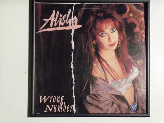 Glittered Record Album - Alisha - Wrong Number