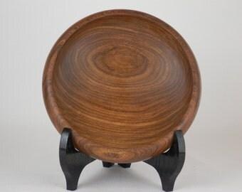 Exotic Wood Bowl - Hand Turned Brown Ebony