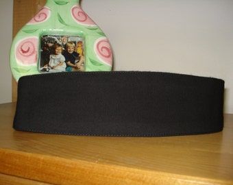 Solid Black Fabric Hairband for Women Made in Canada