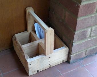 Wooden Milk Bottle Carrier
