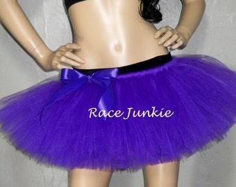 Purple Running Tutu ( 9 inch length) Race Junkie/ Princess Running/Pancreatic Cancer Awarenss/Halloween Costume/Race Costume