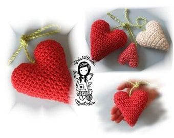 Crochet PATTERN, Valentine, Heart, 3D, DIY Pattern 26