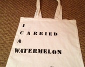 Typewriter Quote Totes - 'Watermelon', Baby from Dirty Dancing.