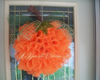 SPIRAL PUMPKIN WREATH..Deco Mesh Wreath..Fall Wreath