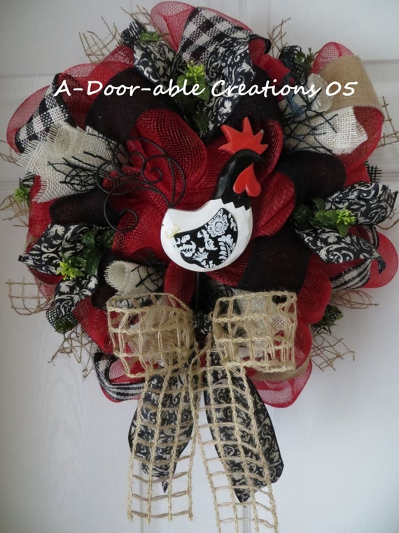 ROOSTER MESH WREATH