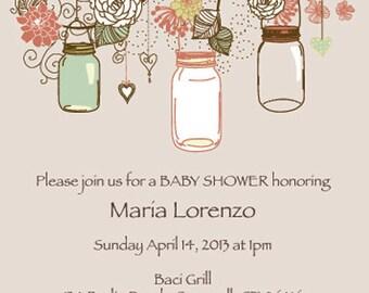Baby Shower Mason Jar Invitation