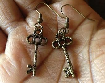 Key Charm Earrings