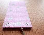 NOTEBOOK, japanese stab binding, pink, fuchsia, mint, europeanstreetteam, gold, bead, sosteam, salesteam
