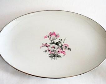 Embassy USA Vitrified China Pattern EMB 63 Medium Oval Serving Platter
