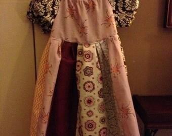 Boho chic Peasant Dress- size 6-12 mos- 7t