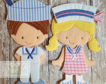 Love My Sailor Man: Felt doll Sailor Boy OR Girl outfit