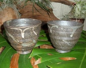 """Pottery 2 Piece Cup Set """"FREE SHIPPING"""""""