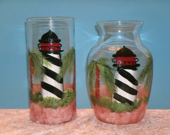 LIGHTHOUSE VASES set of two