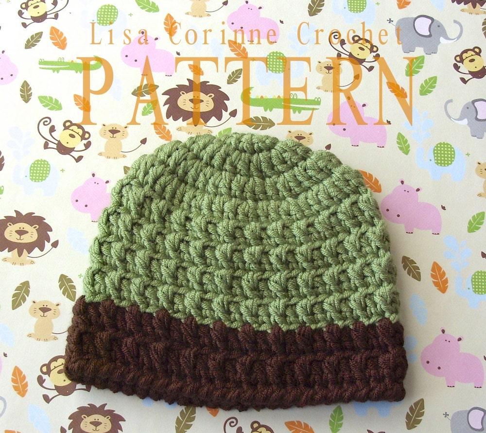 Simple Crochet Baby Beanie Pattern : Baby Boy Hat Crochet PATTERN Baby Hats Crochet Patterns Easy