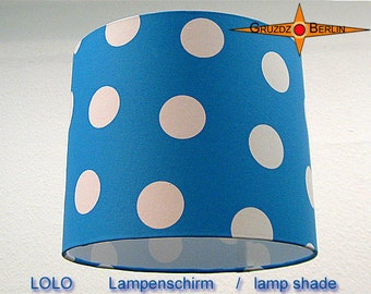 Blue lamp shade dotted LOLO Ø 5 cm kids room lamp dots