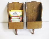 Wooden Scoop Wall Hanging Sconce Cabin Charm Made in Japan