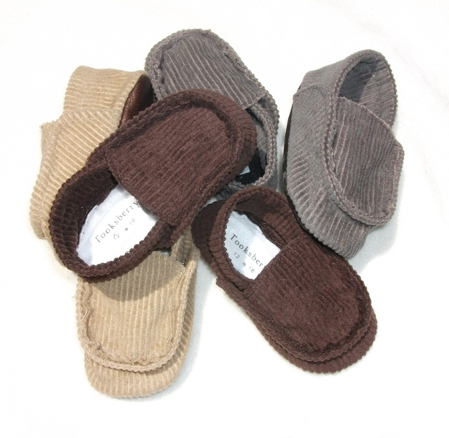 Easter Baby Boy shoes gray brown tan corduroy baby by ...