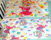 Lisa frank Vintage Rare Iconic Gumball machine sheet and pillowcase set