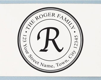 Personalized Rubber Stamp - Custom Address Stamp - Family Name Stamp - AA28