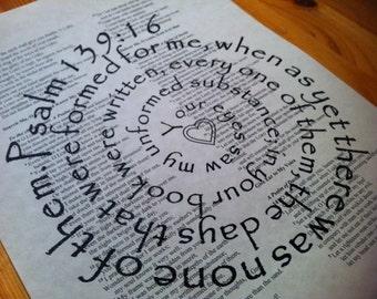 Psalm 139:16 Spiral Scripture Bible Verse Print