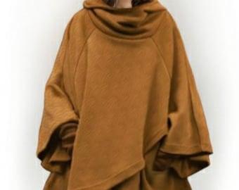5798 Personalized Poncho Sewing Pattern - Women Poncho, Ladies Clothes, PDF pattern