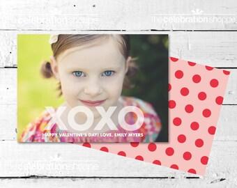 XOXO Valentine Photo Card - The Celebration Shoppe