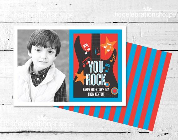 Rock On Valentine Photo Card - The Celebration Shoppe