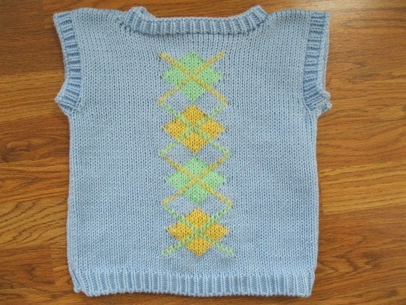 Argyle Sweater Vest in Easter Colors