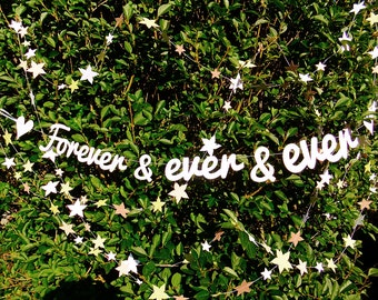 Wedding Paper Garland - Forever and Ever