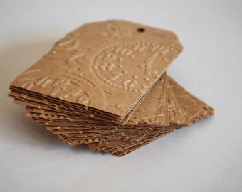 Steampunk Clock Embossed Gift Tags
