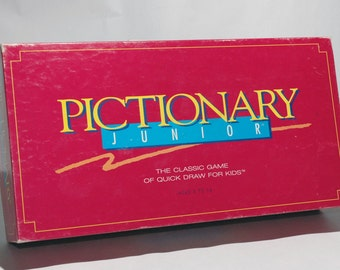 Pictionary Jr Junior from Milton Bradley 1993 COMPLETE (read description)