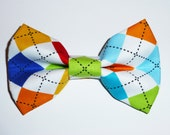 Colorful Argyle Bow Tie for Dog, Cat or Human