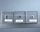 BulletProof Silhouette Press Dies Soft Squares Set -our H234 series
