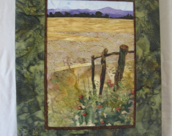 small landscape quilt- Needin' Mending