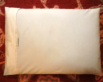 1  20X26 Organic Cotton Buckwheat Hull Pillow 8 lbs of Orgainc Buckwheat Hulls