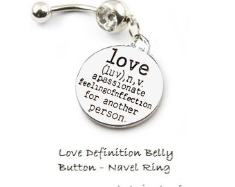 WHAT IS LOVE - Love Definition Navel Belly Ring
