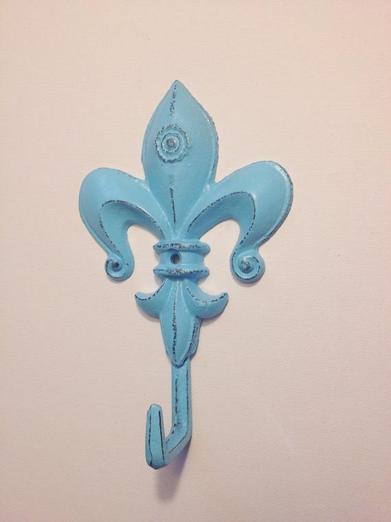 Shabby chic fleur de lis coat hook historical coat hook - Fleur de lis coat hook ...