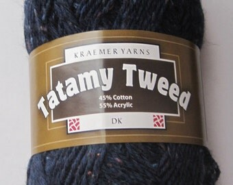 Tatamy Tweed DK Yarn Navy