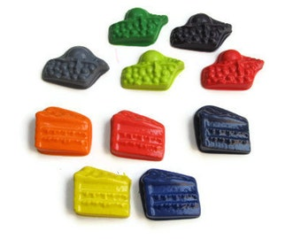 Cake and Pie Crayons set of 10 - Cake Party Favors - Pie Party Favors - Food Party Favors - Shaped Crayons