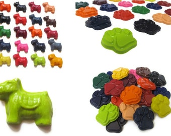 Dog and Paw Print Crayons set of 20 - party favors