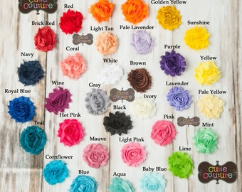PICK 3-MORE COLORS-Boutique Style-Shabby Chic Clips-Shabby Clips-Rosette Clips-Hair Clips-Child Clips