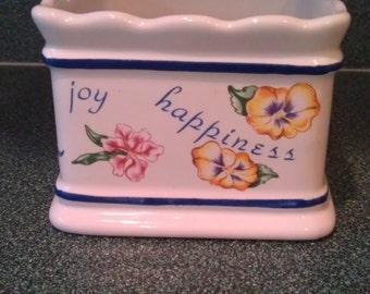 Vintage Claire Burke Ceramic Plant Holder