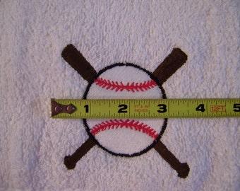 Beautifully embroidered baseball towel